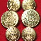 Fratelli Blazer Buttons Set Vintage Brass Shank Gold Men's