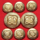 Mens Vintage J.G. Hook Blazer Buttons Set Crown Griffins Gold