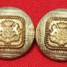 Two Mens Vintage J.G. Hook Blazer Buttons Set Crown Griffins 1980s