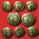 Men's Quartermaster Vintage Blazer Buttons Set Brass