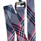 Brooks Brothers Linen & Cotton Belt Plaid D-Ring Men's Size Small