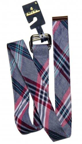 Men's Brooks Brothers Linen & Cotton Belt Plaid D-Ring Size Small