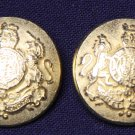 Two Mens Vintage Kilbride Blazer Buttons Antique Gold Metal