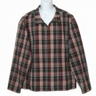 Men's Eddie Bauer Jacket Windbreaker Plaid Size Large Tall