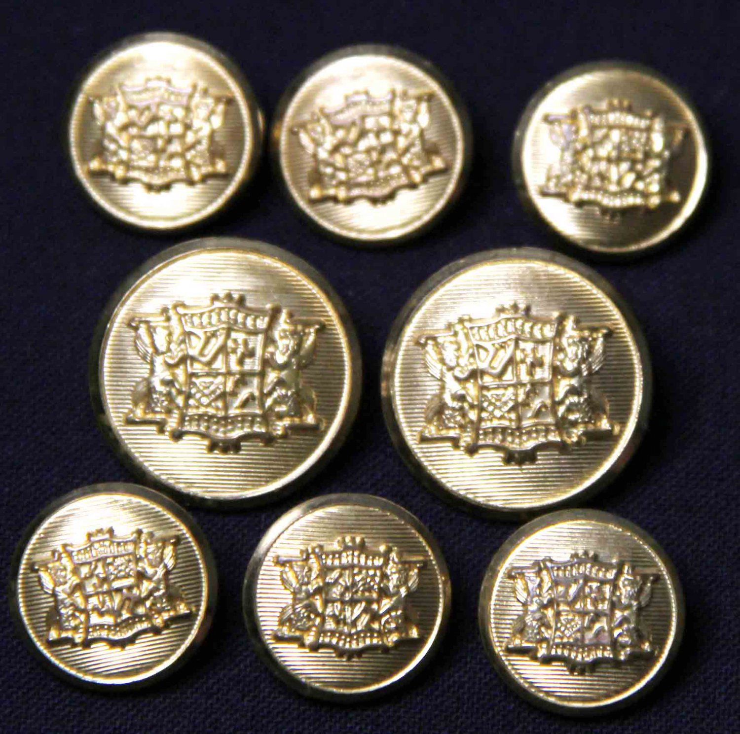 Men's Waterbury Vintage Blazer Buttons Set 1980s Brass