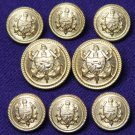 Men's Waterbury Blazer Buttons Set USA Brass Shank Nautical Theme