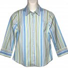 Women's J. Crew Shirt Blouse Striped Size M