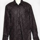 H&M Fleur des Lis Shirt Brown Men's Size 16.5 X 37 Large