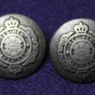 Two Men's Pewter Gray Regiment Blazer Buttons Metal Shank