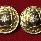 Two Paul Zileri Italian Blazer Buttons Gold Brass Trees Pattern