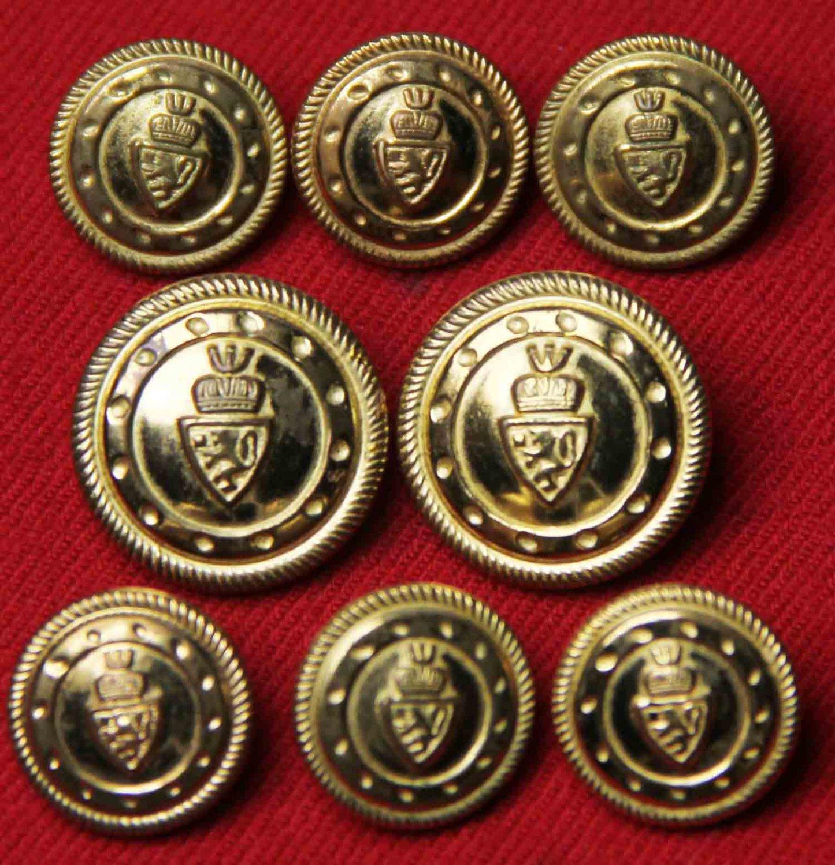 Mens Vintage Stanley Blacker Blazer Buttons Set Gold Brass 1980s