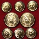 Jos. A. Bank Blazer Buttons Set Gold Brass Shank Men's