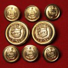 Mens St. Germain Blazer Buttons Set Gold Brass