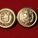 Two Mens St. Germain Blazer Buttons Gold Brass