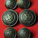 Scottish Highlands Blazer Buttons Set Antique Gold Brass Men's