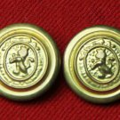 Two Men's Vintage Hardwick Blazer Buttons Gold Brass Lion 1970s