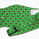 Mens Ted Baker Floral Silk Bow Tie Green