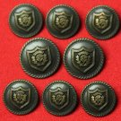 Mens Vintage Mark Shale Blazer Buttons Set 1970s Brown Metal