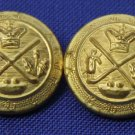 Two Mens Vintage Excelsior Blazer Buttons Gold
