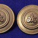 Two Vintage Charlemont Blazer Buttons Gold Metal Shank