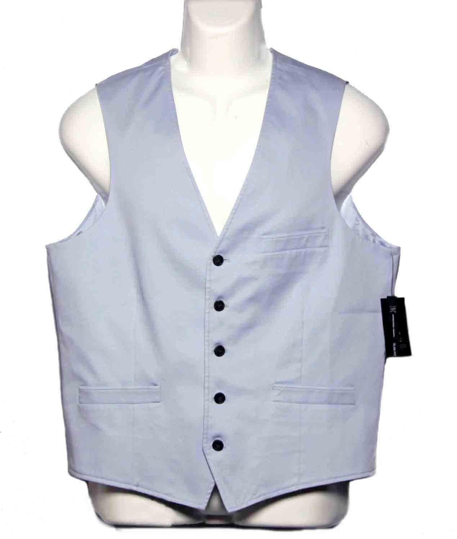 Inc. International Concepts Light Blue Vest Blue Men's Size Slim Fit Medium