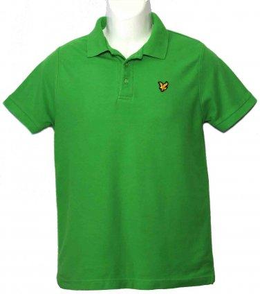 Mens Lyle & Scott Polo Shirt Green Size Small