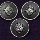 Three Mens Castile Blazer Buttons Pewter Gray Shank Metal