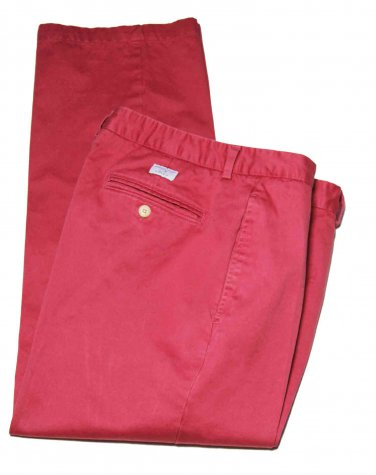 Mens Vineyard Vines Rosey Red Flat Front Size 35 X 30