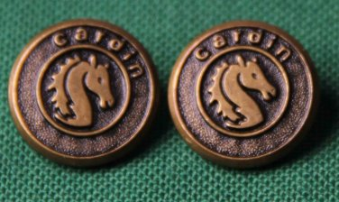 Two Mens Vintage Pierre Cardin by Waterbury USA Blazer Buttons Gold Brown