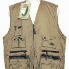 Mens Panoply Fishing Vest Khaki Size XL