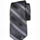 Ben Sherman Silk Tie Necktie Gray Plaid Narrow Men's