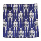 Disney Star Wars Pocket Square Hankerchief Silk Blue Gray Black