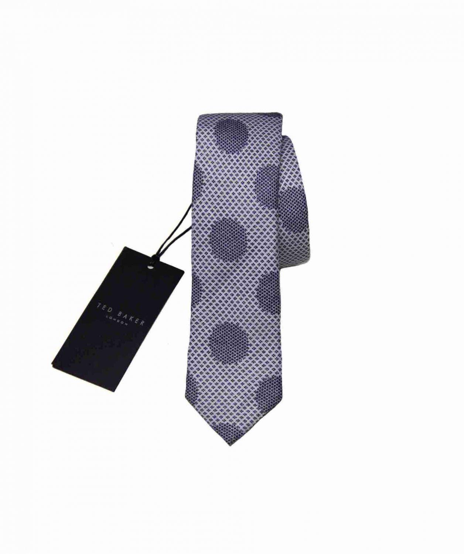 Mens Ted Baker Italian Linen Tie Gray