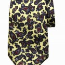 Vintage Liberty of London Tie Italian Silk Paisley Yellow Green Red Men's