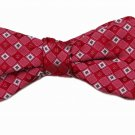 Mens Penrose London Bowtie Kite.D Silk Red White Blue Pre-Tied