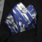 Mens Disney Star Wars for M&S Silk Pocket Square Hankerchief Blue Gray