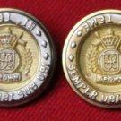 Two Men's Tremont Semper Ubi Sub Ubi Blazer Buttons Gold Silver
