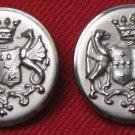 Two Men's Royal Edinburgh Vintage Blazer Buttons Silver 1970s