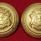 Two Men's Royal London Blazer Buttons Gold Shank
