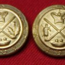 Two Mens Vintage Mark Shale Blazer Buttons Gold Brass