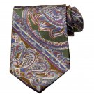 Men's Vintage Christian Dior Italian Silk Tie Paisley