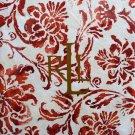 """Ralph Lauren Bluff Point Floral Tablecloth Rust 60"""" X 104 Oblong Rectangular"""