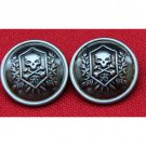 Two New Men's Gascoigne Skull & Cross Bones Blazer or Jacket Buttons Shank Gray Silver