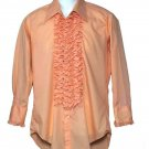 Vintage After Six Ruffle Tuxedo Shirt 1970s Men's Size 15 X 31