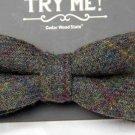 Cedar Wood State Wool Tweed Bow Tie Green One Size Men's