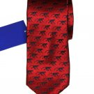Tresanti Silk Tie Red Black Monkeys Men's