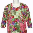 Talbots Cardigan Sweater Floral Women's Size Medium