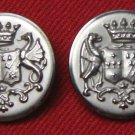 Two Mens Royal Edinburgh Vintage Blazer Buttons Silver Gray