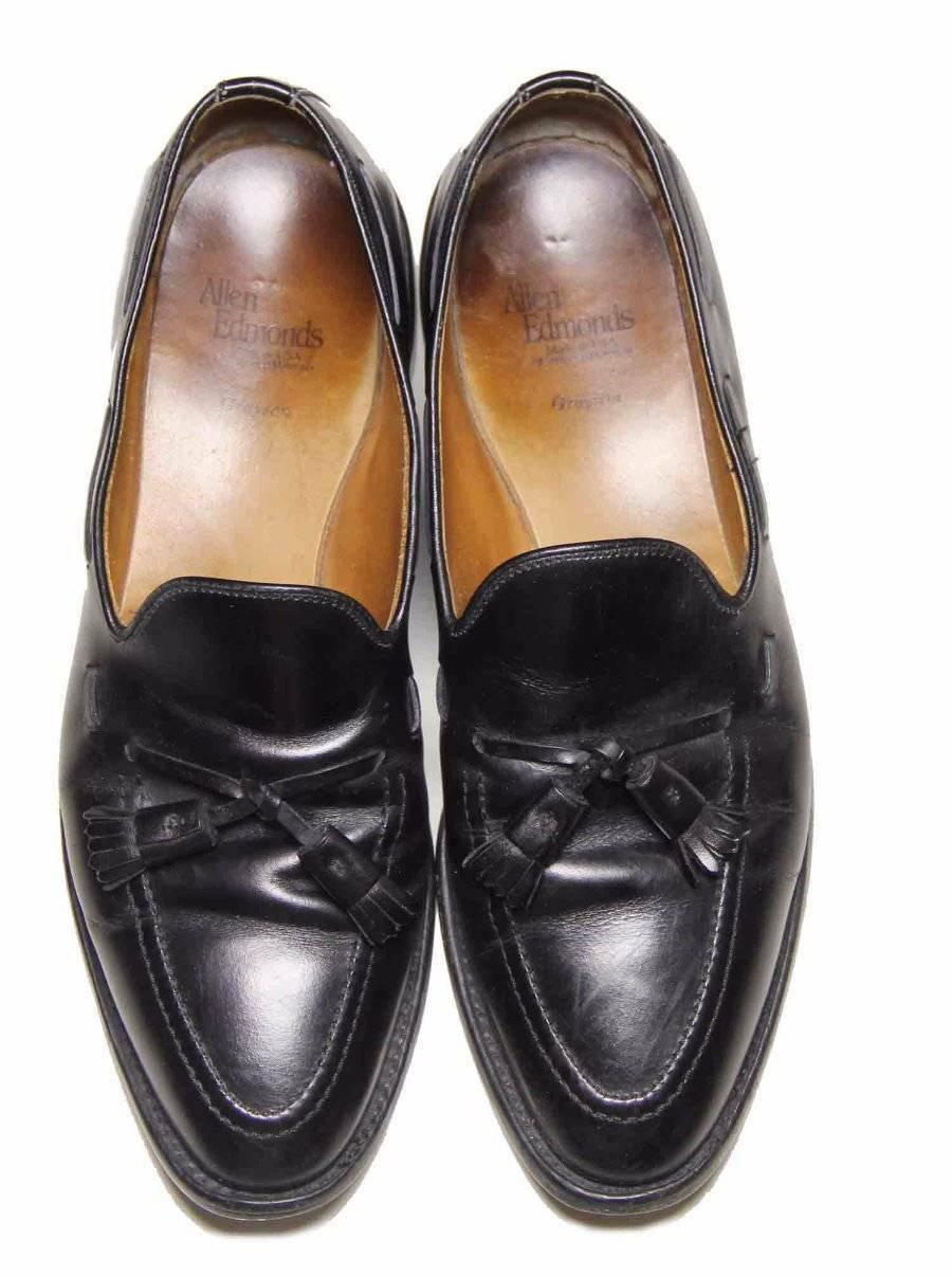Allen Edmonds Dress Shoes Grayson Tassel Loafers Black Men's Size 9.5 B