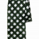 J Crew Seersucker Neck Tie Green White Narrow Men's